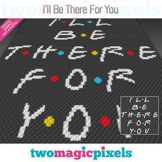 I'll Be There For You crochet graph Crochet C2c Pattern, Pixel Crochet Blanket, Bobble Crochet, Manta Crochet, Bobble Stitch, Crochet Cross, Crochet Blanket Patterns, Crochet Yarn, Cross Stitch Patterns