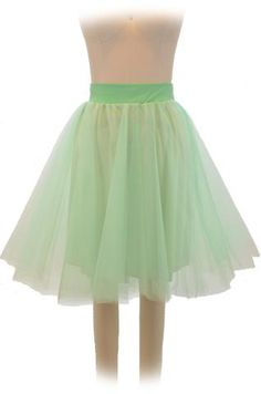 ballet babe tulle pinup skirt - sea green