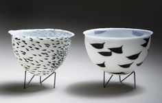 JANE REUMERT- bowls with metal stands
