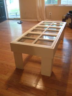 Coffee table made from old door or windows