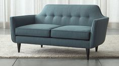 Beautiful couch and loveseat set piece for living room styles. Couch And Loveseat Set, Sofa Couch, Leather Loveseat, Tufted Sofa, Sofa Furniture, Living Room Furniture, Living Rooms, Barrel Furniture, Office Furniture