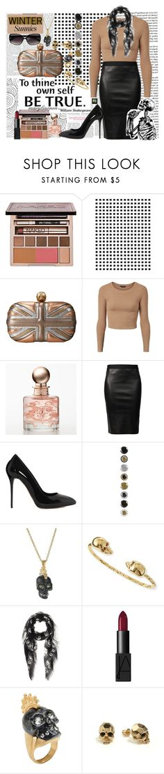 """""""It's All Because Of You, That I'm Through"""" by marylinopen ❤ liked on Polyvore featuring Urban Decay, Camp, Alexander McQueen, Jessica Simpson, Helmut Lang, Kasun, CHARLES & KEITH and wintersunnies"""