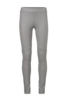 This comfortable legging made from cotton and a bit of elastane, is great to wear with a long blouse or long sweater. It has two special features: its dinstinct seams and the coating on the outside, giving it a subtle shine. Make sure you wash it inside out!  Coated Legging Seams by YAYA. Clothing - Bottoms Netherlands