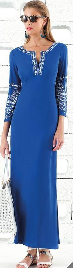 Pretty Cobalt Blue Maxi Dress