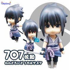 Tobyfancy Anime Naruto Sasuke Nendoroid Action Figure Uchiha Sasuke Cute 707# Nendoroid Collection Model Toy Gifts 10CM