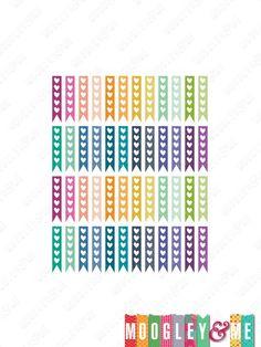 48 Heart List Flags for your Horizontal Erin Condren Life Planner!! by MoogleyandMe on Etsy