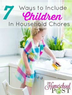 Need some ideas for keeping the house clean and uncluttered with kids? Here are 7 practical ways to include children in household chores ~ hsbapost.com
