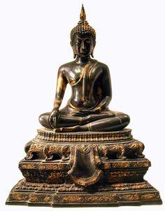 Rattanakosin Gilt Bronze Sculpture of the Buddha Seated  Origin: Thailand Circa: 18 th Century AD to 19 th Century AD