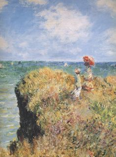 Claude Monet Painting , I love the sky in it, reminds me of Monterey