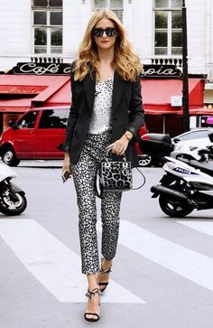 Olivia Palermo Graphic Outfit - DesignerzCentral