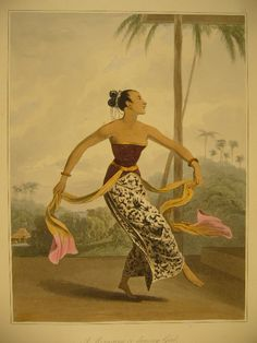 Javanese dancer Colonial Art, Dutch Colonial, Dancer Drawing, Manga Drawing, Old Poster, Bali Painting, Poster City, Surakarta, Indonesian Art