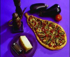 Dino's Eggplant Pizza is a delight. Eggplant Pizza Recipes, Eggplant Pizzas, Gourmet Pizza Recipes, Pudding, Desserts, Food, Tailgate Desserts, Deserts, Custard Pudding