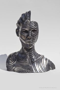 22 Creative Human Figure Sculptures Composed of Unraveling Steel Ribbons by Gil Bruvel