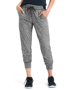 Soft brushed tech jersey joggers
