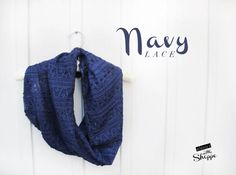 Lace Infinity chunky Navy ScarfNavy Infinity by ElenasLittleShoppe Infinity, Navy Blue, Lace, Etsy, Fashion, Scarves, Moda, Infinite, Fasion