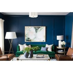 Grab a Roller These Are the Best Small Living Room Paint Colors is part of Living Room Colors Blue - Find out which 10 small living room paint colors interior designers choose to make a space look bigger than it really is Living Room Color Schemes, Paint Colors For Living Room, Living Room Designs, Color Schemes For Office, Paintings For Living Room, Living Room Artwork, Interior Design Color Schemes, Dark Living Rooms, Living Room Green