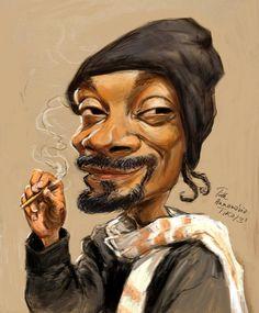 Snoop Dogg caricature by - Karikaturen - Karikatur Area Snoop Dogg, Funny Caricatures, Celebrity Caricatures, Celebrity Drawings, Cartoon Kunst, Cartoon Art, Cartoon Faces, Funny Faces, Black Art Pictures