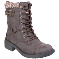 Thunder Lace Up Brown Boots