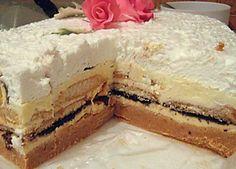 Super torta Torte Recepti, Kolaci I Torte, Jednostavne Torte, Apple Rose Pastry, Baking Recipes, Cake Recipes, Serbian Recipes, Biscuit Cake, No Bake Cake