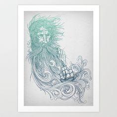 Seabeard Art Print by David Fleck - $18.00
