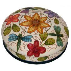 Spring Floral Carved Box