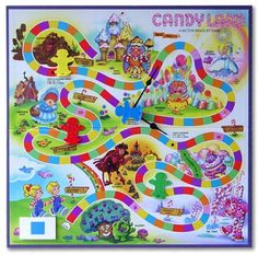 This was the best version of Candy Land.  The garden on this page is cool too.