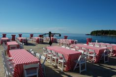Rehearsal Dinner with panoramic views on our South Pier
