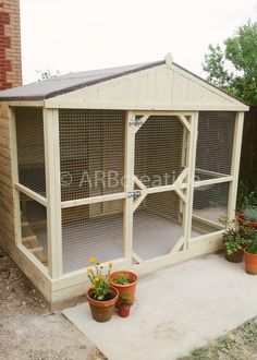 Bespoke rabbit runs and pet enclosures.