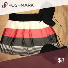 Striped Mini Skirt Perfect striped waist skirt. Light and comfy. Pair with leggings and boots or bare legs for warmer weather. Very versatile!! (Shoes also for sale in another listing-BUNDLE AND SAVE!!) Vanity Skirts Mini
