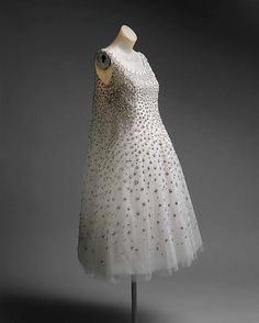 "house of dior ""l'eléphant blanc"" yves saint laurent, 1958 / the metropolitan museum of art"