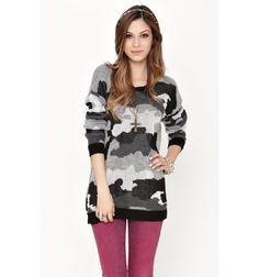 Kirra Womens Camo Pullover Sweater $32.50