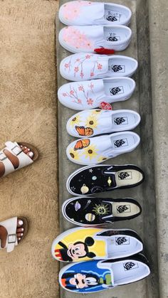 Behind the scenes by xodestdesign Vans Shoes Fashion, Vans Shoes Women, Custom Vans Shoes, Painted Vans, Painted Shoes, Painted Sneakers, Shorts E Blusas, Cute Vans, Aesthetic Shoes