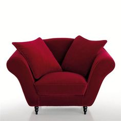Fauteuil velours, Lipstick  : prix, avis & notation, livraison. Le fauteuil velours, Lipstick. Ajoutez du style à votre déco avec ce fauteuil au confort souple et moelleux. Fabrication Française. Hauteur : 88 cmProfondeur : 92 cmAssise : L69 x H88 x P92 cmDescription du fauteuil, Lipstick :Revêtement : Version unie : fibres de velours 100% coton, toile du support 66% coton, 34% viscose (480 g/m²), version rayée 63% polyester, 34% lin, 3% coton. Finition passepoilée. Entièrement déhoussable…