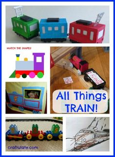 All Things Train - a collection of art, crafts, activities and more for kids who love trains