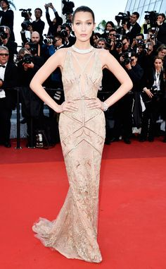Bella Hadid from Cannes 2016: Best Dressed Stars Beautiful! The model looks like a total goddess for her first appearance at Cannes.