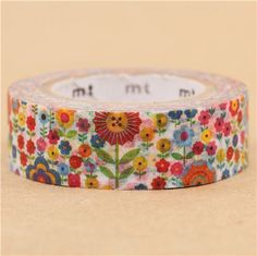 mt Washi Masking Tape deco tape colorful garden flowers  1