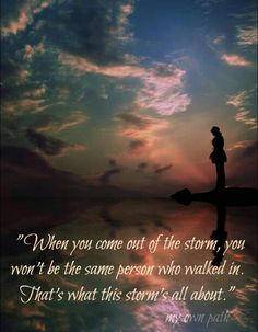 the storm....I learned many amazing truths since my last Storm/Tower & the most amazing is that I completely understand & accept & welcome all that has occurred in my life since and continue to understand as I continue to grow. Thank you.