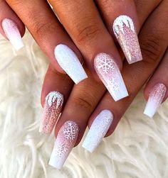 60 Simple Acrylic Coffin Nails Designs Ideas for 2019 - Winter Nails Acrylic - holiday nails 60 Simple Acrylic Coffin Nails Designs Ideas for 2019 – Winter Nails Acrylic - Water Chistmas Nails, Cute Christmas Nails, Xmas Nails, Christmas Nail Art Designs, Winter Nail Designs, Holiday Nails, Pink Christmas, Christmas Design, New Year's Nails