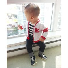 Story: As we all know, the 50's were a great decade. This baby boy outfit is straight out of Grease and so cute for his first birthday or going home outfit. Want to switch things up? Each of the piece