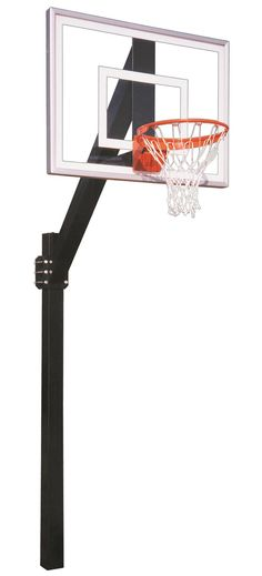 First Team Legend Jr III In Ground Fixed Height Outdoor Basketball Hoop 54 inch Acrylic from NJ Swingsets