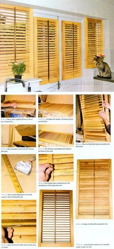 Making Wooden Window Shutters - Woodworking Tips and Techniques | WoodArchivist.com