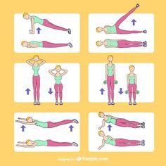 Fitness training drawings