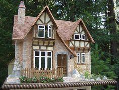 Casa de muñeca del hilador final miniatura
