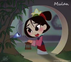 Mulan in Chibi Style. So cute!