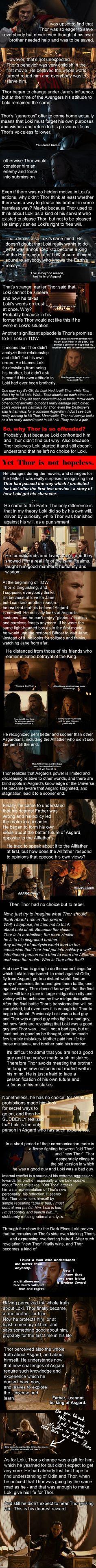 Long post, but definitely worth reading || Thor || Loki || Fan theory