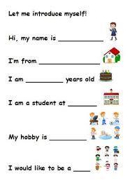 نتيجة بحث الصور عن worksheets on myself for kindergarten ...
