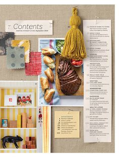 Martha Stewart Living Contents Page - September 2010