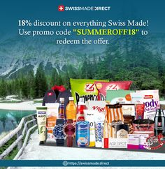 """Love to use Swiss made products? You would like what we have for you in our inventory! And this is the best time to check them out because we are giving an 18% #discount on everything! That's right, use the coupon code """"SUMMEROFF18"""" to redeem the exclusive discount during checkout.🥳 Travel Style, Coupon Codes, Switzerland, Everything, Coding, The Originals, Check, Low Carb, Products"""