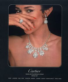 Cartier (Jewels) 1978 Necklace, Earings, Ring
