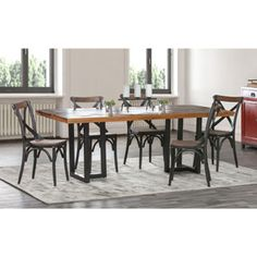 Shop for Kosas Home Kinda Distressed Brown and Black Reclaimed Wood Dining Table. Get free shipping at Overstock.com - Your Online Furniture Outlet Store! Get 5�0in rewards with Club O!
